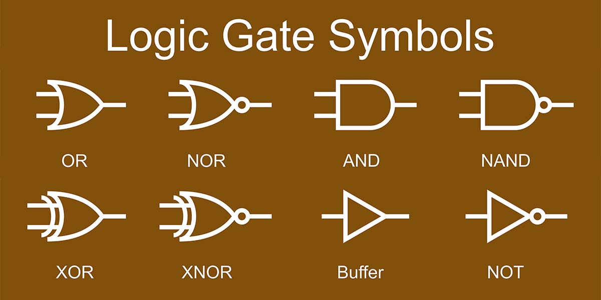 small logic gates — the building blocks of versatile digital circuits