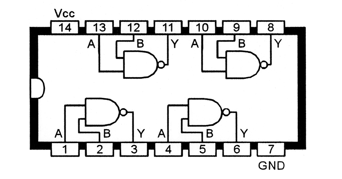 understanding digital buffer, gate, and logic ic circuits ... and gate chip diagram