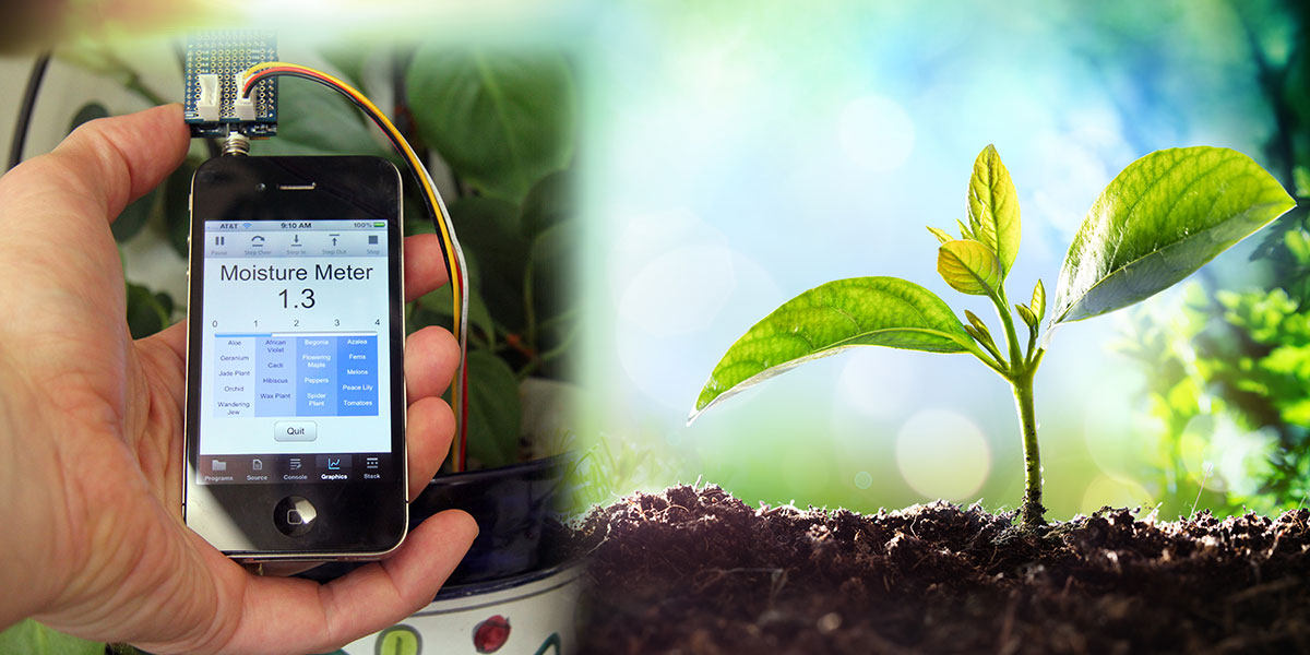 Turn Your iPhone into a Plant Moisture Sensor