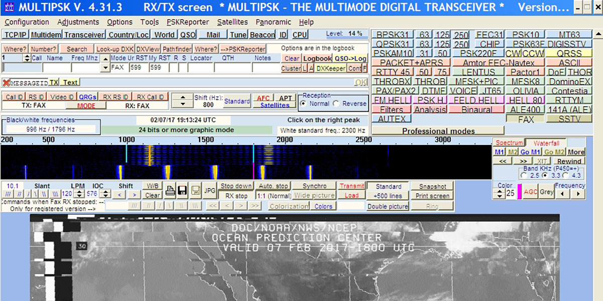 Receiving Data with Web Based Shortwave Radios