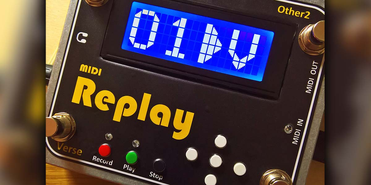 Build the MIDI Replay Stomp Box
