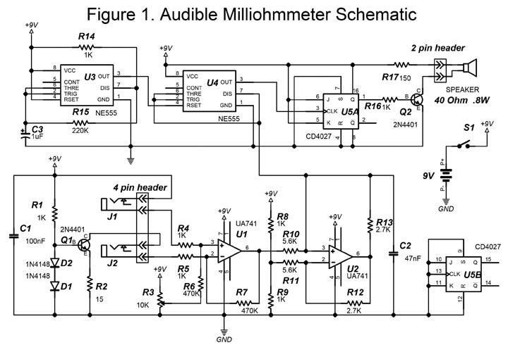 Ohmmeter  Micro Ohmmeter Schematic