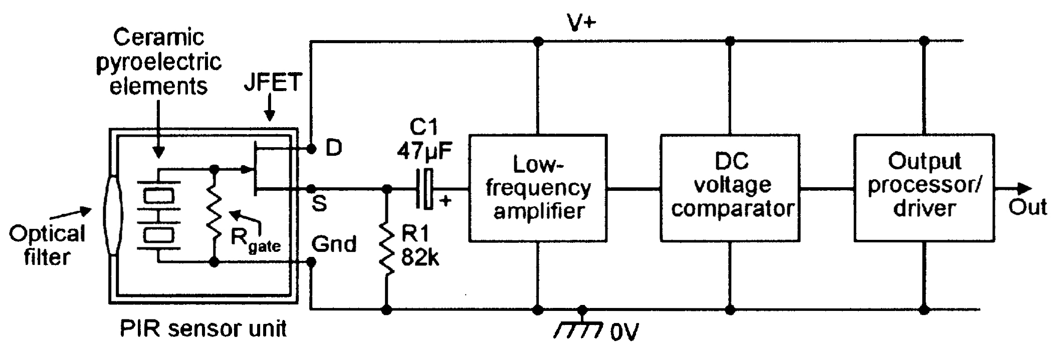 Fridgedooralarmcircuitbmp Fridge Door Alarm Circuit Diagram Using 555 And Ldr Electronic