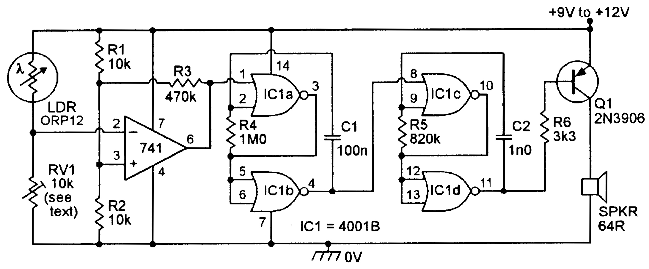 Light Sensitive Circuits Nuts Volts Magazine Ne555 Siren Alarm Indicator Tone Generator Circuit Diagram
