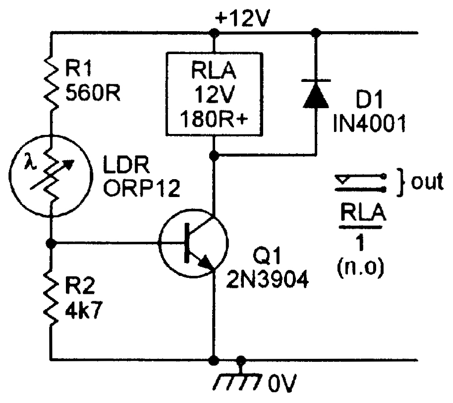 Ldr Sensor Circuit Diagram | Light Sensitive Circuits Nuts Volts Magazine