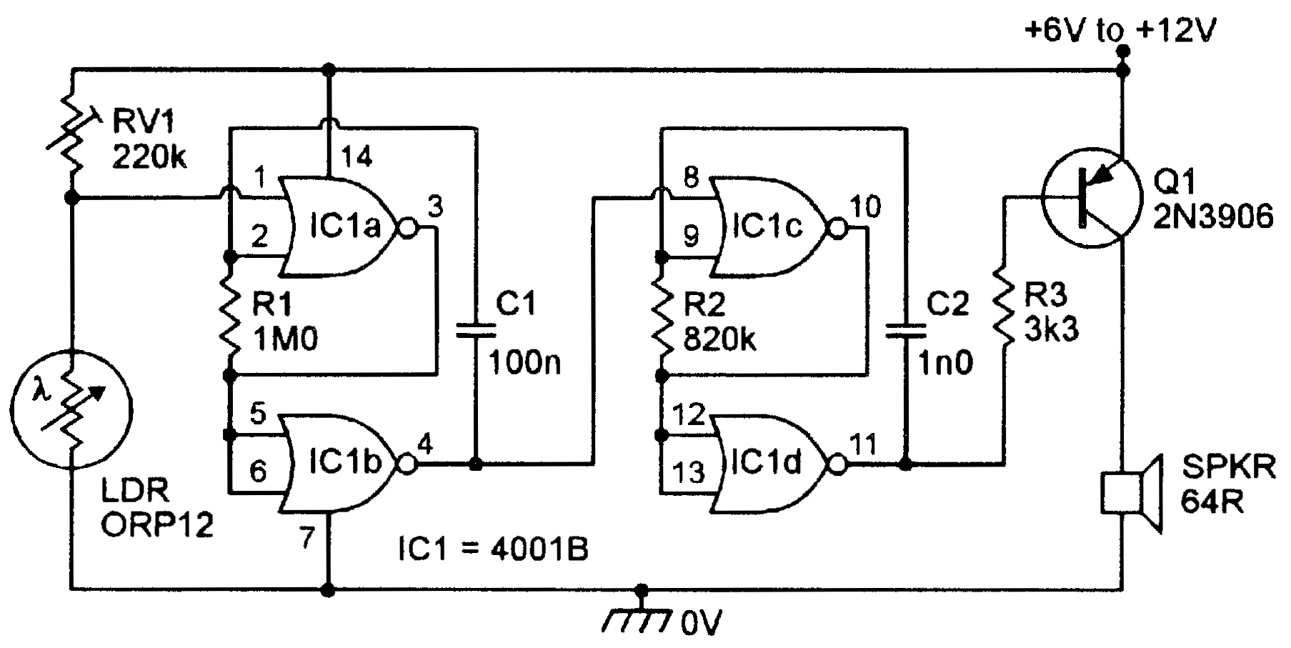 This Is A Dark Detector Circuit This Circuit Will Generate Sound If