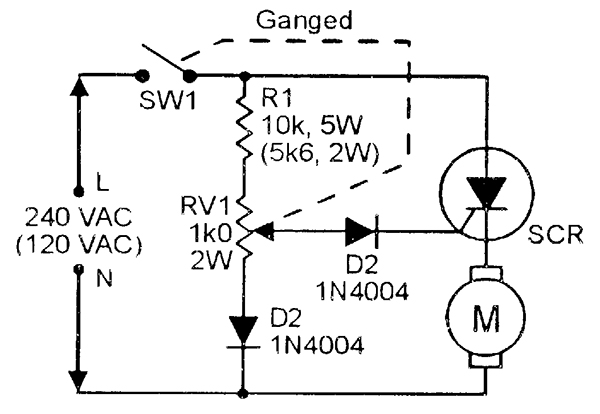 scr principles and circuits nuts & volts magazine 240v transformer diagram a drill speed controller