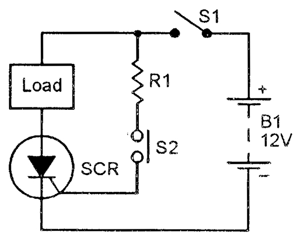 scr principles and circuits nuts \u0026 volts magazinebasic way of using an scr as a dc switch