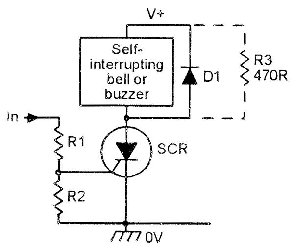 led display low volt battery 9v using scr