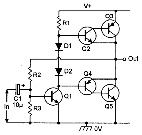 sziklai pair and quasi complementary output stages