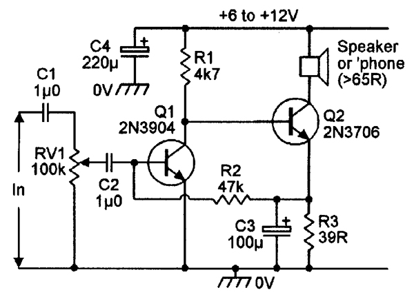 Transistors Old Radio Amplifier Circuit Explanation