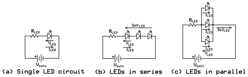 calculating current limiting resistor values for led. Black Bedroom Furniture Sets. Home Design Ideas