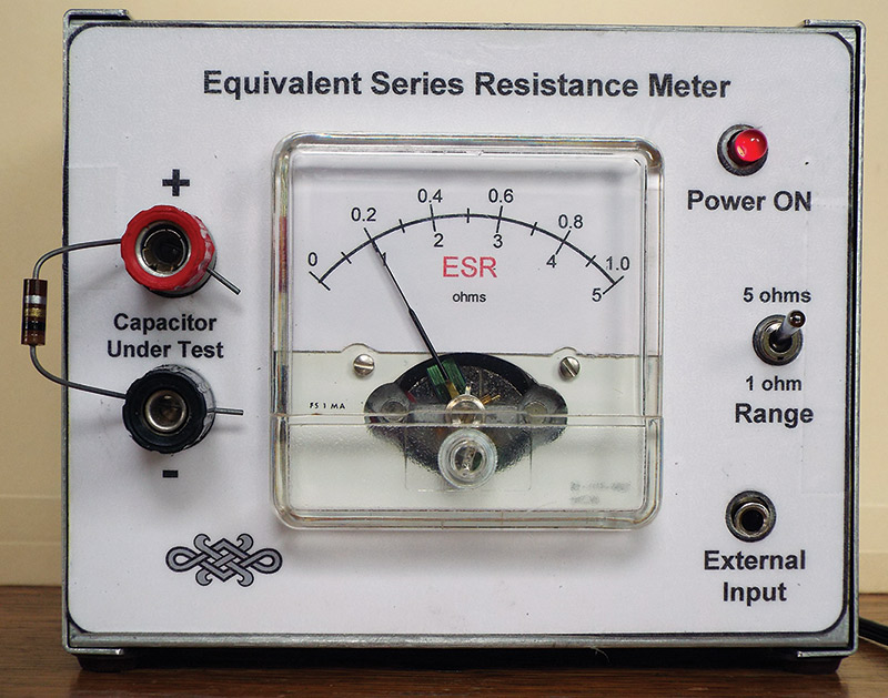 build an esr meter for your test bench nuts \u0026 volts magazineesr meter after calibration the meter is displaying the value of the one ohm test resistor