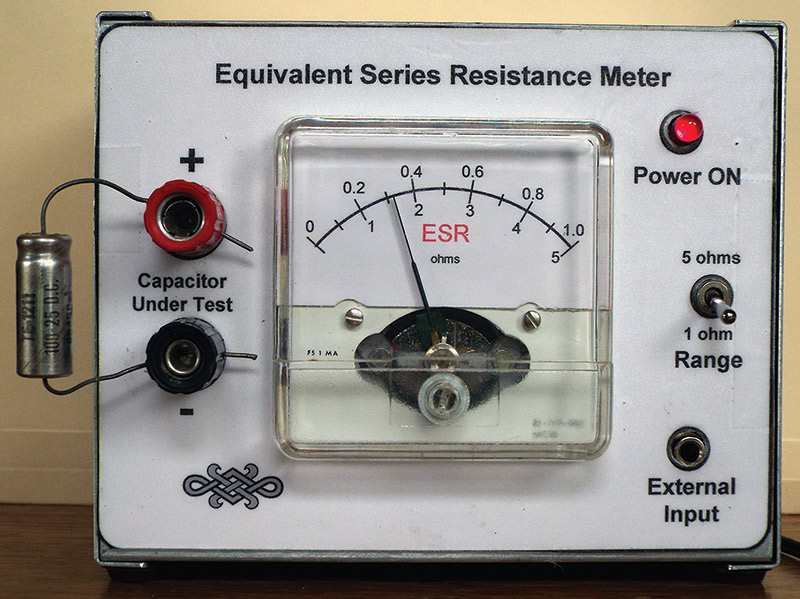 Resistance Tester Through Materials : Build an esr meter for your test bench nuts volts magazine