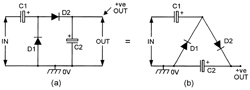 dc voltage converter circuits nuts volts magazine rh nutsvolts com voltage multiplier circuit diagram ac voltage doubler circuit diagram