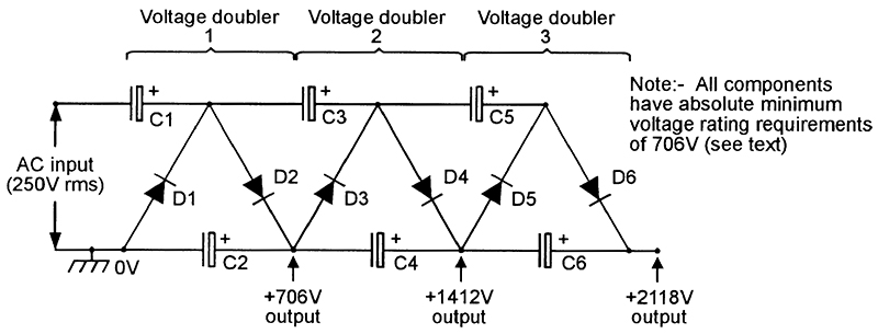 Voltage multipliers xxx circuit multiplier