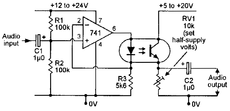 circuit diagram of optocoupler basiccircuit circuit
