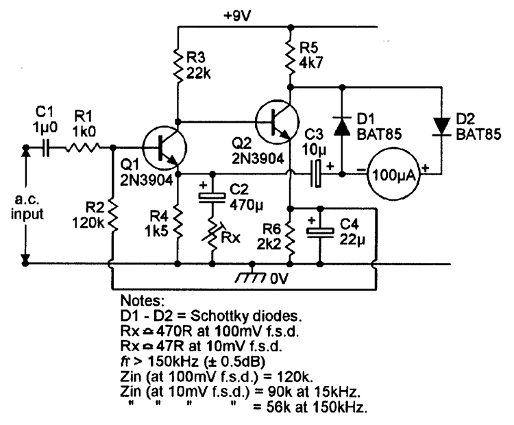 bipolar transistor cookbook part 8 nuts volts magazine LC Oscillator Circuit figure 16 this ac voltmeter can be set to give fsd sensitivities in the range 20 mv to 200 mv
