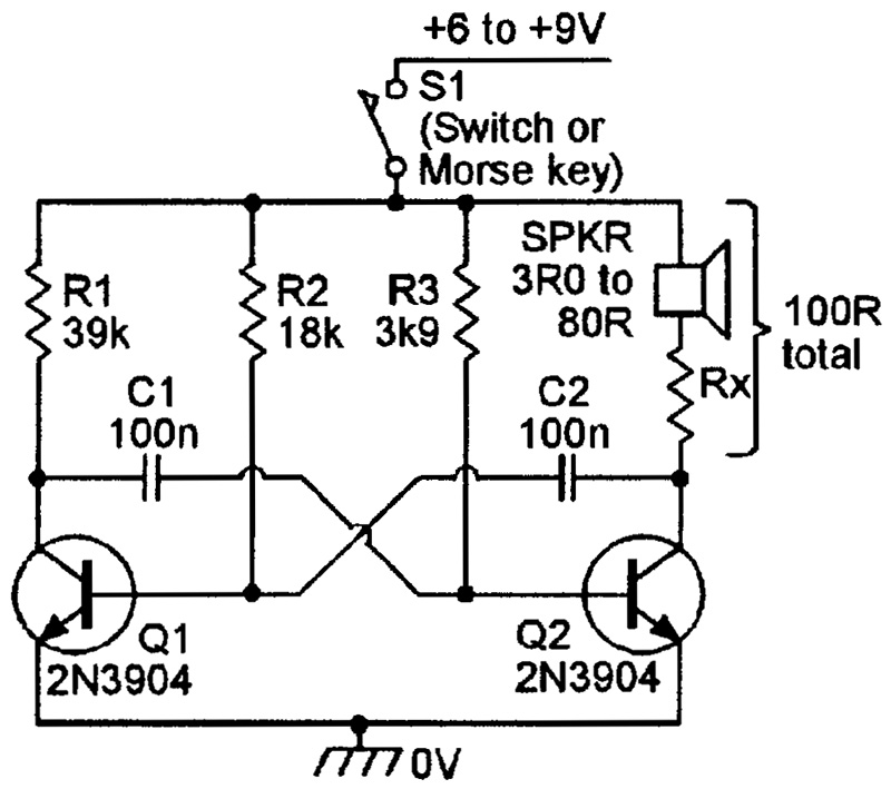 Khz Astable Multivibrator With Transistors Circuit Wiring Diagrams