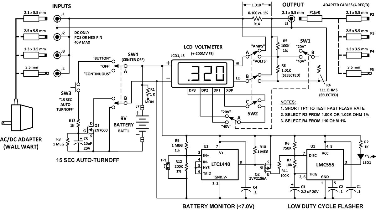 build a wall wart power monitor