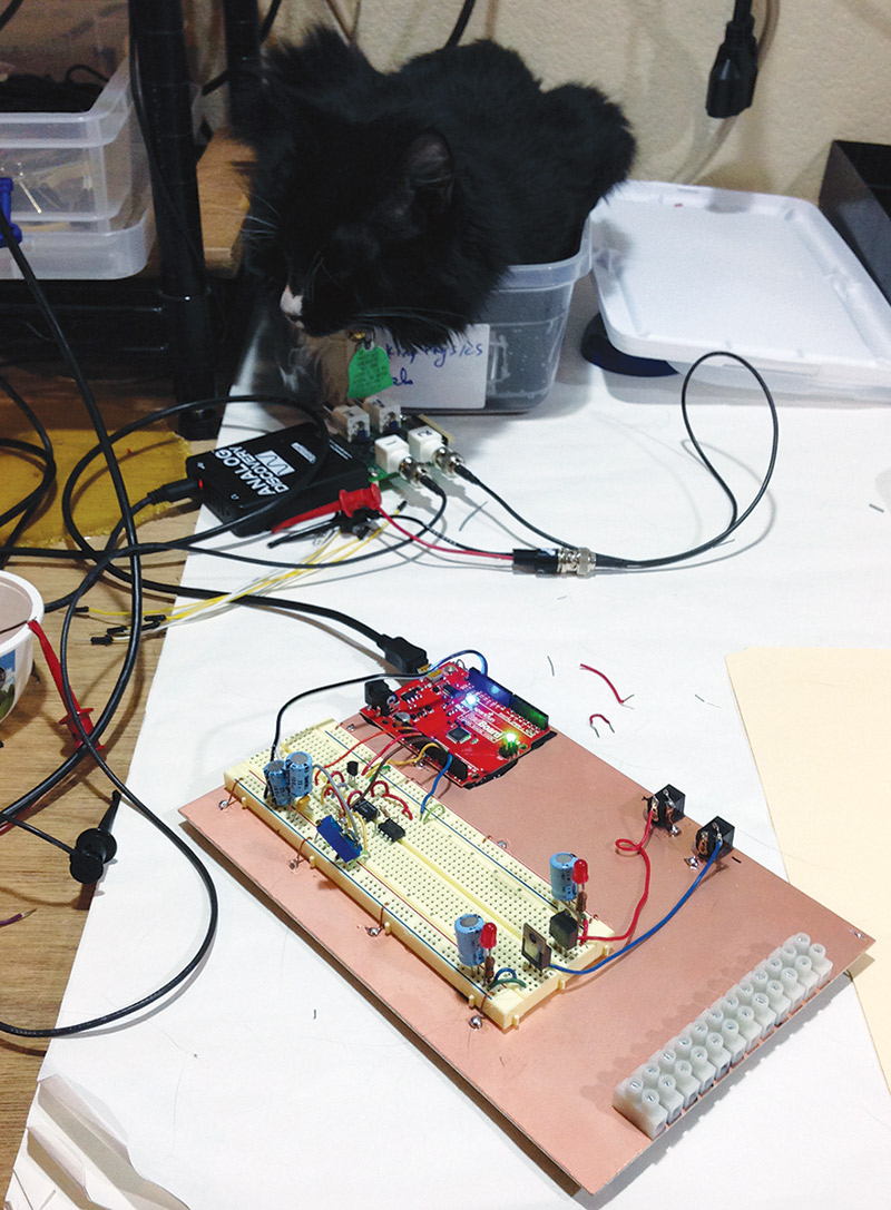 Why You Need An Analog Front End And How To Set It Up Nuts Volts Noninverting Amplifier Integrated Circuits Electronics Figure 10 Shows The Bench With Cat Scanner In Operation Nv
