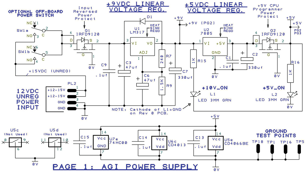 The Arduino Graphics Interface Part 1 Nuts Volts Magazine Figure 3 Vital Electric Components Of Flash Circuitry As Shown In 5 Onboard Linear Regulators Provide Clean Low Noise Regulated 975v And 50v Outputs To Power Both Agi Analog Circuits