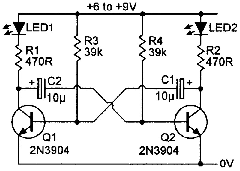 practical led indicator and flasher circuits nuts \u0026 volts magazinefigure 14 shows the practical circuit of a transistor two led flasher, which can be converted to single led operation by simply replacing the unwanted led