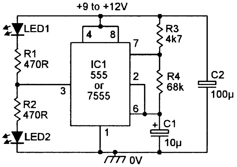 NV_0300_Marston_Figure15 practical led indicator and flasher circuits nuts & volts led flasher wiring diagram at bayanpartner.co