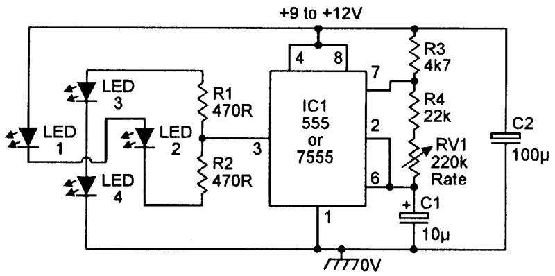practical led indicator and flasher circuits nuts volts magazine rh nutsvolts com 5 pin led flasher relay wiring diagram motorcycle led flasher wiring diagram