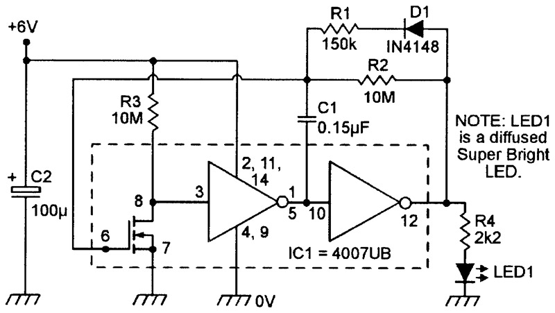 NV_0300_Marston_Figure19 practical led indicator and flasher circuits nuts & volts led flasher wiring diagram at bayanpartner.co