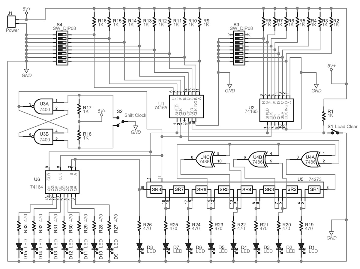 Learn About Cyclic Redundancy Checks Nuts Volts Magazine Led Driver Circuit Schematic Http Www Learningelectronics Net Circuits Figure 2 Is The For Whole I Used To Demonstrate Crc Principle