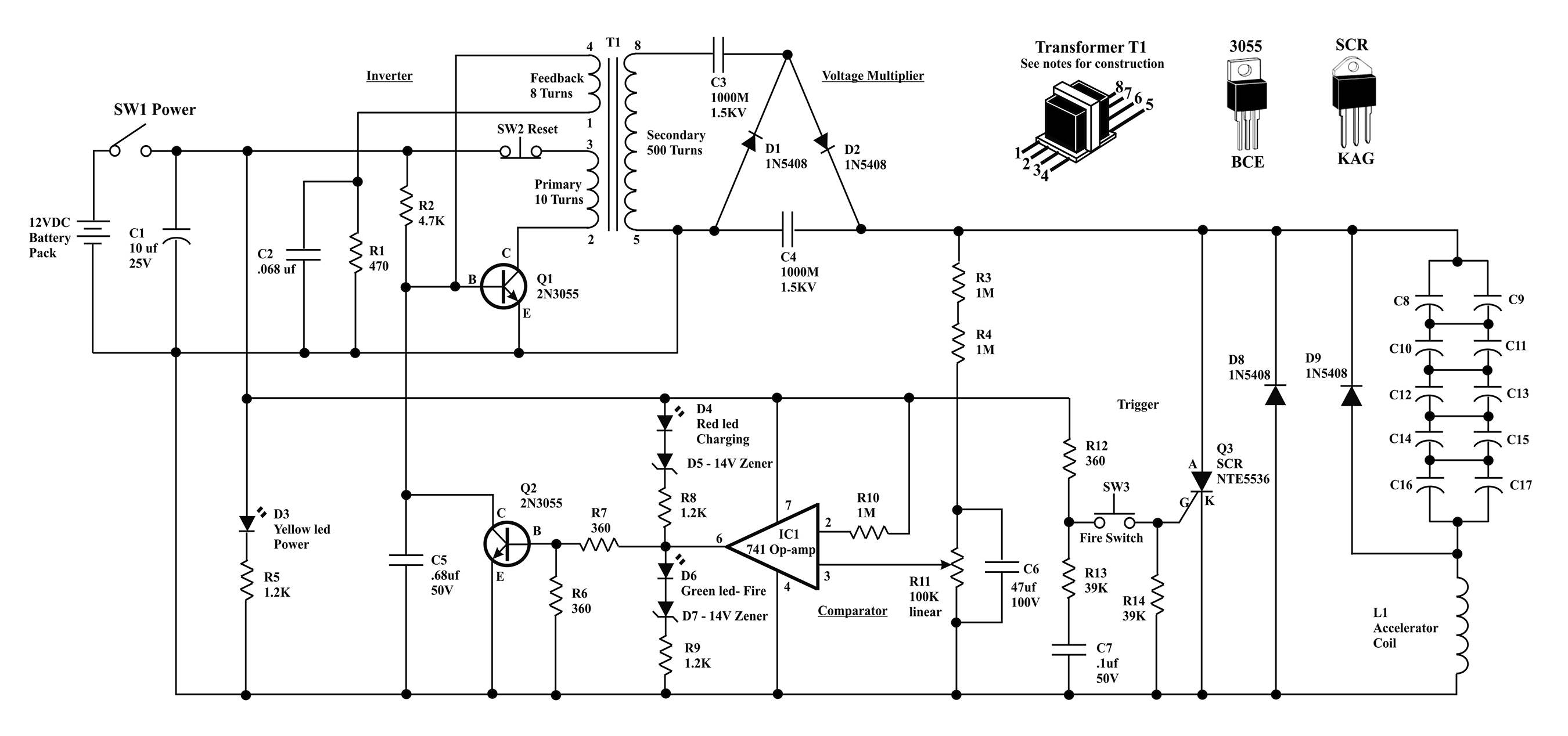 Electromag ic coil launcher project on control transformer diagram
