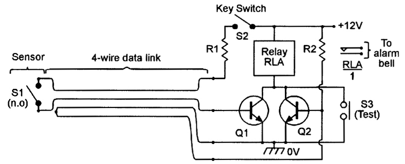security electronics systems and circuits \u2014 part 2 nuts \u0026 voltsfour wire data link used with a normally open sensor switch offers excellent security