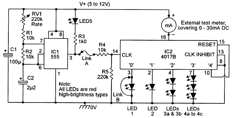 install led light chaser circuit