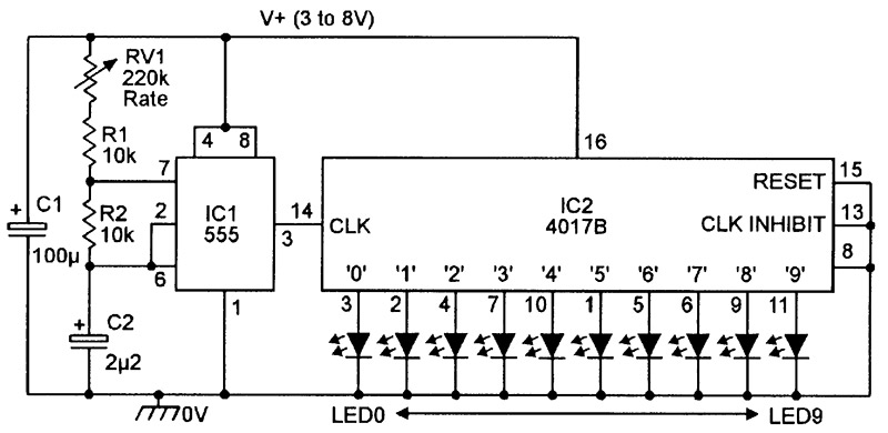 led chaser sequencer circuits nuts volts magazine rh nutsvolts com  8 channel pwm led chaser circuit diagram