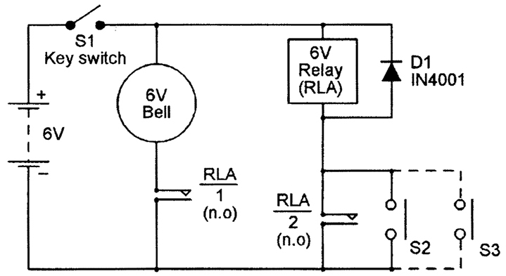 self latching relay circuit diagram