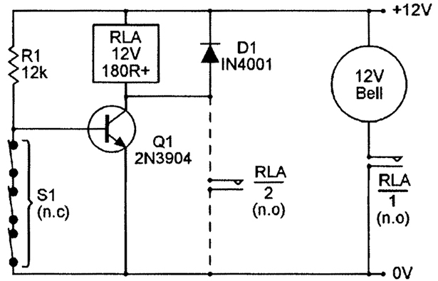 security electronics systems and circuits \u2014 part 3 nuts \u0026 voltsthis snag is overcome in circuits that are designed to be activated via normally closed (n c ) switches, and a basic circuit of this type is shown in figure