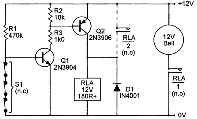 Security Electronics Systems And Circuits Part 3 Nuts Volts. Failsafe Operation But Draws A Quiescent Or Standby Current Of 1ma This Can Be Reduced To Mere 25 By Modifying The Circuit In. Wiring. Fail Safe Relay Wiring Diagram At Scoala.co