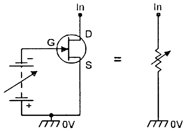 Fet principles and circuits part 1 nuts volts magazine an n channel jfet can be used as a voltage controlled resistor ccuart Image collections