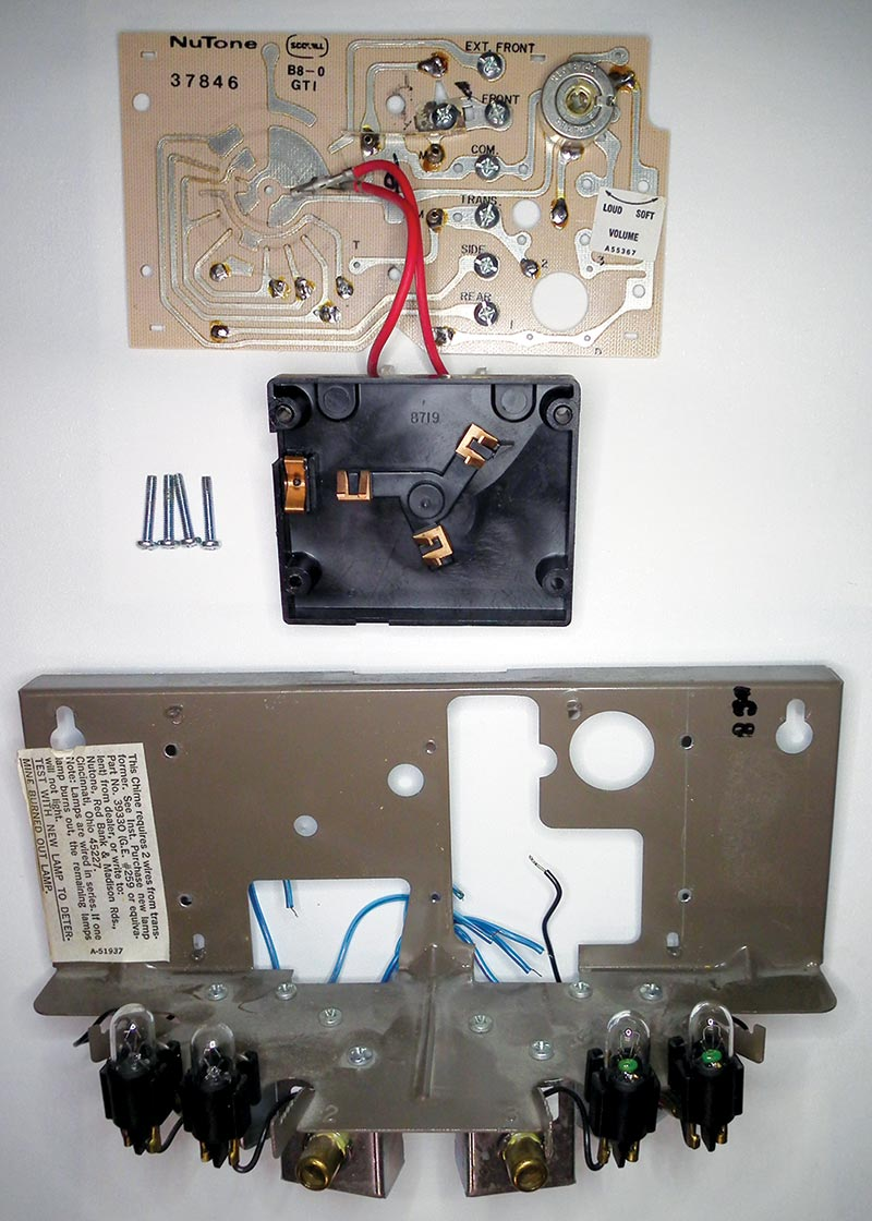 Rebirth Of A Tubular Door Chime Nuts Volts Magazine Electronic Doorbell Light Schematic Frame Circuit Board And Sequencer Motor