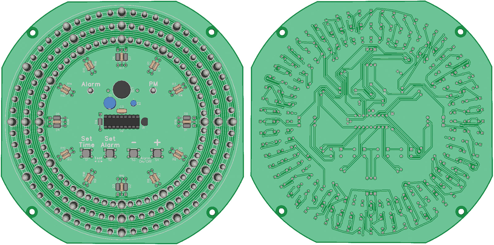 Components Would Allow The Leds To Be On The Front Of The Board