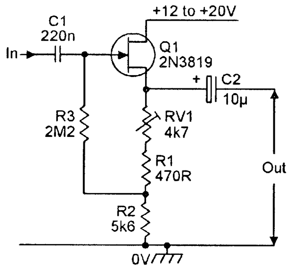circuit diagram for jfet characteristics