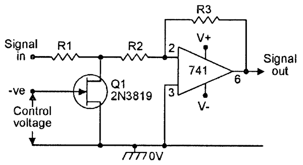 Fet principles and circuits part 2 nuts volts magazine figure 17 voltage controlled amplifierattenuator ccuart Choice Image