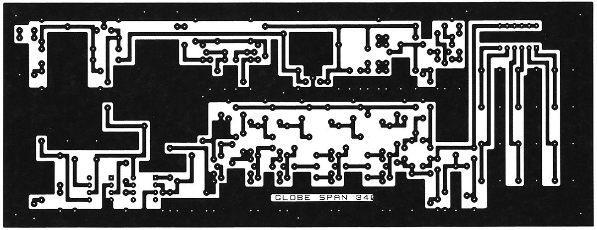 The printed circuit board layout is shown in Figure 7 and the parts placement diagram is shown in Figure 8. FIGURE 7