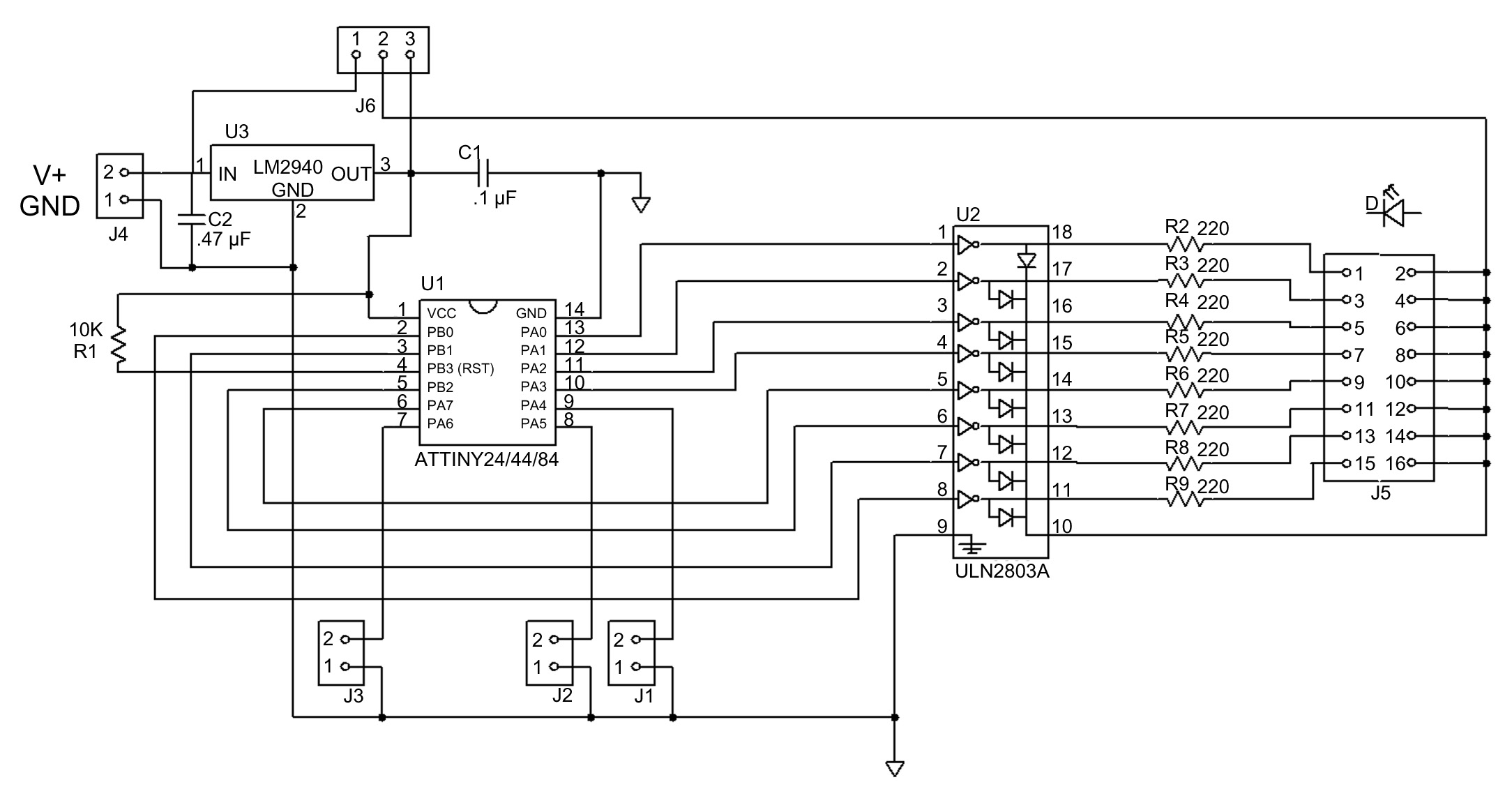 Das Blinkenboard Nuts Volts Magazine Triac Voltage Controller Public Circuit Online Simulator Schematic