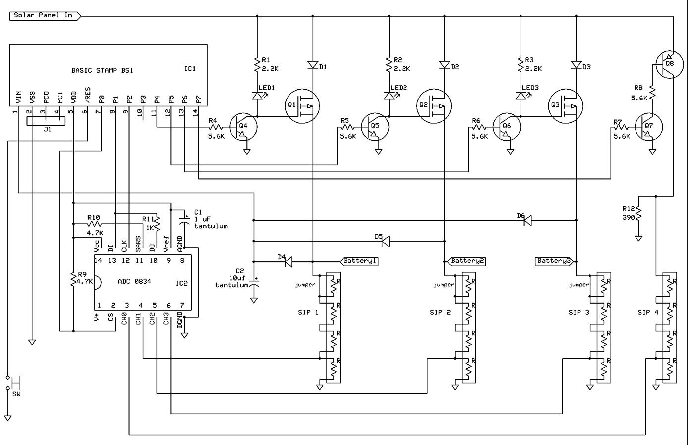 garage door opener circuit board schematic