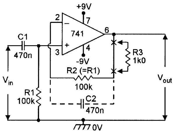 Op amp cookbook part 2 nuts volts magazine precision dc voltage follower with offset null facility ccuart Gallery