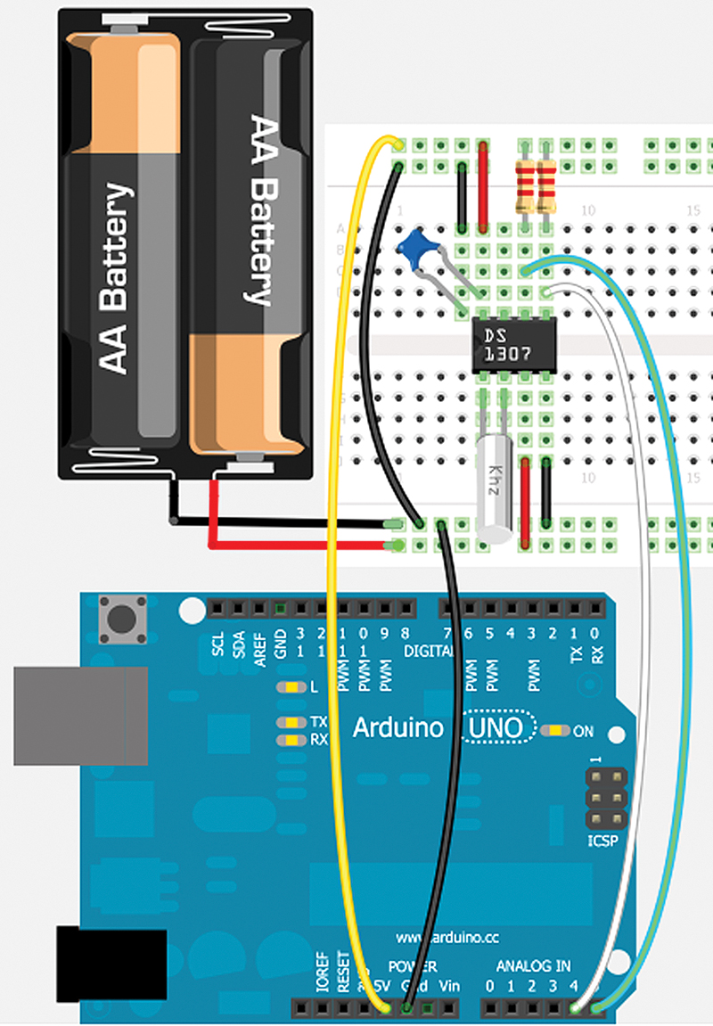 Smileys Workshop 49 Fritzing With The Arduino Part 1 Nuts Real Time Clock Shield Schematic All Wired Up