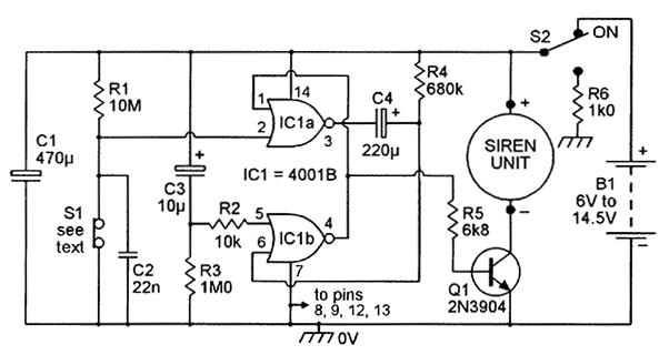 security electronics systems and circuits part 7 nuts volts rh nutsvolts com Siren Alarm Whelen Siren Wiring -Diagram