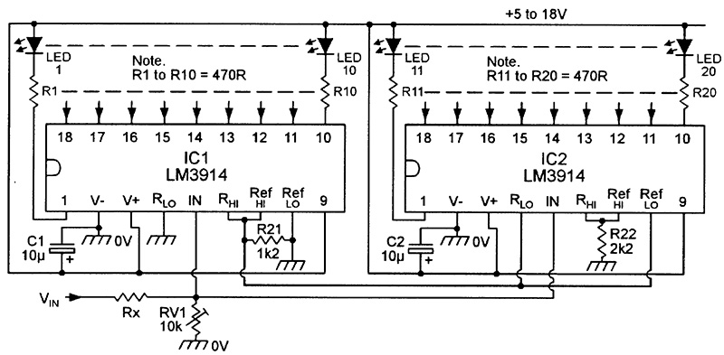 Led Graph Circuits on current limiting resistor for led
